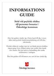 Informationsguide - Stöd vid psykisk ohälsa - Ödeshögs kommun