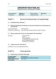 SÄKERHETSDATABLAD - PK Produkter AB