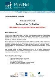 Systematisk Fejlfinding - PlastNet