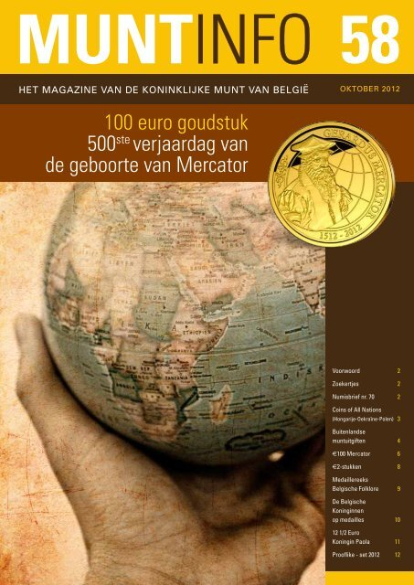 500ste verjaardag van 100 euro goudstuk de geboorte van Mercator