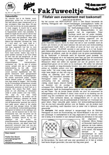 jrg. 36 nr. 8 sept. 2011 - Eerste Kerkraadse Philatelisten Vereniging