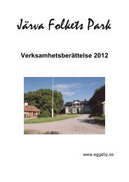 Järva Folkets Park - Eggeby Gård