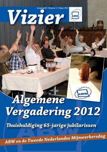 Vizier, nr. 4 - 2012 - Vakbond ABW