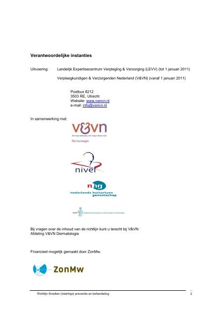 intertrigo - Verpleegkundigen & Verzorgenden Nederland