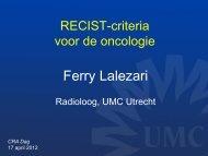10. Recist criteria voor de oncologie CRA