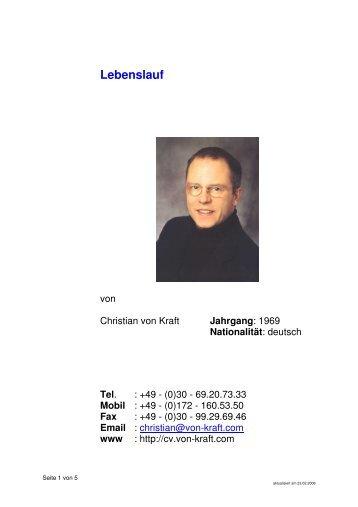 lebenslauf langfassung pdf deutsch - Lebenslauf Nationalitat