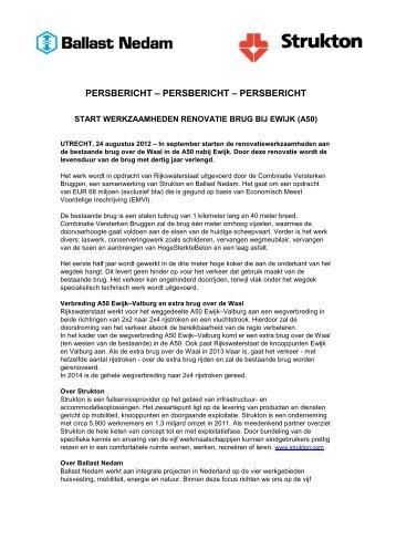 PERSBERICHT – PERSBERICHT – PERSBERICHT - Ballast Nedam