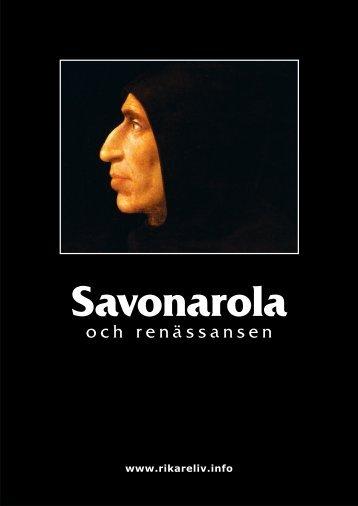 Savonarola - Rikare Liv