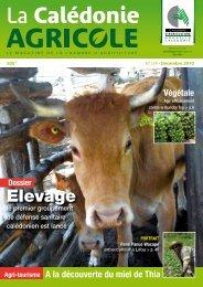 Elevage - Chambre d'Agriculture de Nouvelle Calédonie