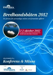 Program Bredbandsbåten 2012 - SSNf