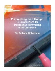 Printmaking on a Budget - School of Art - The University of ...