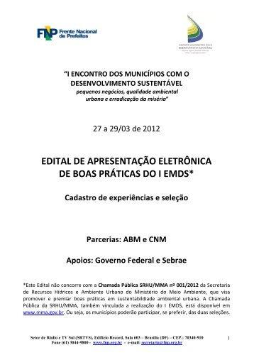 Edital de Boas Práticas 20120225 pdf - Frente Nacional de Prefeitos