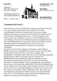 Vastenbrief 2013 deel 2