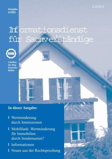 Wertminderung für Immobilien durch Sendemasten?