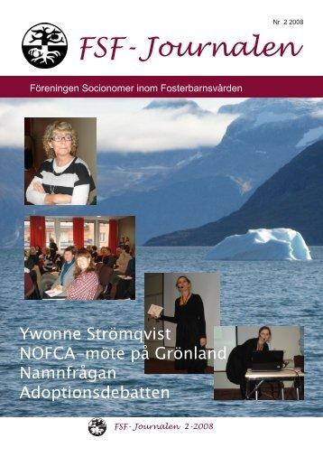 FSF-Journalen 2008-12-01.pdf - Föreningen Socionomer Inom ...