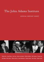 2007 - The John Adams Institute