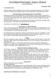 Meddelelse II - Grundejerforeningen Vejers strand