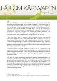 Fördjupning (pdf) - Svenska Läkare mot Kärnvapen
