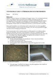 Ventilerat golv i förskolor och fritidshem - SISAB