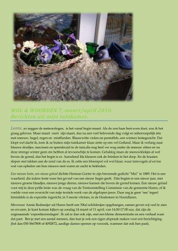 WOL & WOORDEN 7, maart/april 2010. Berichten uit ... - Mama Luca