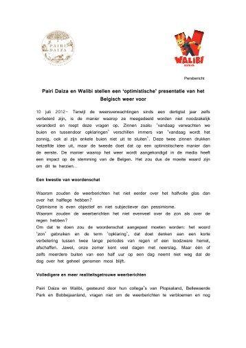 Pairi Daiza en Walibi stellen een 'optimistische' presentatie van het ...
