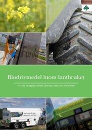 Biodrivmedel inom lantbruket - LRF