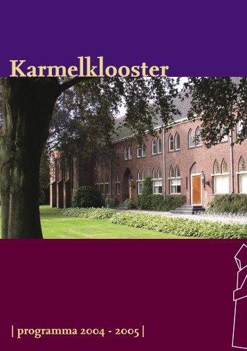 Download het complete programmaboekje - Karmelklooster Drachten