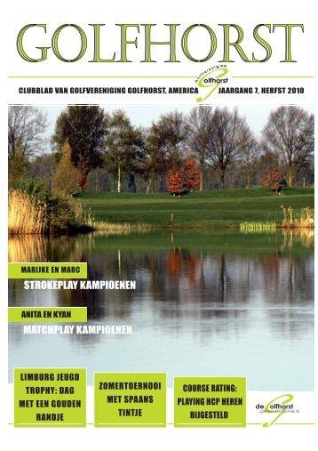 Clubblad Golfhorst Herfst 2010 - Golfvereniging Golfhorst