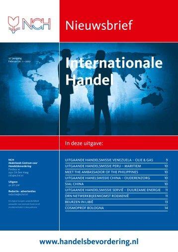 Nieuwsbrief Internationale Handel - Editie 1 2012 - NCH