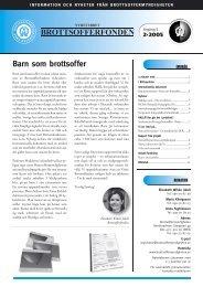 Nyhetsbrev Brottsofferfonden 2005 2 - Brottsoffermyndigheten