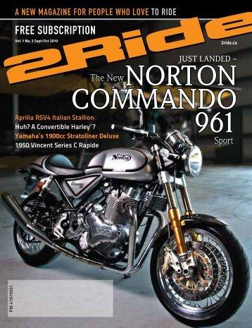 NORTON Commando 961 - 2ride.ca Motorcycle Magazine