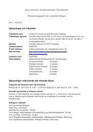 Varslet tilsyn Center for Forsorg og Specialiserede ... - Aarhus.dk