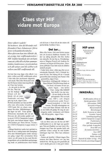 Claes styr HIF vidare mot Europa - www.hif.se - Helsingborgs IF