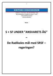 "S + SF UNDER ""ANSVARETS ÅG"" - Henrik Herløv Lund"