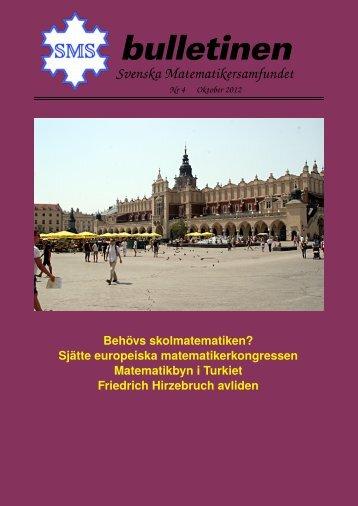 Oktober 2012 - Svenska matematikersamfundet