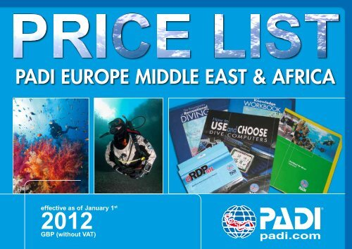 16c7e355b9 PADI Price List 2012 - Beyond Limits Training