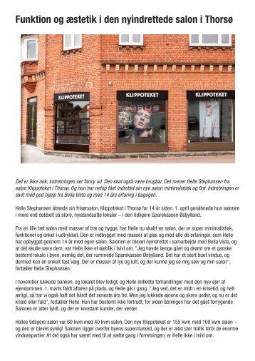 Funktion og æstetik i den nyindrettede salon i Thorsø - Bella Vista