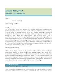 Årsplan 2011/2012 Dansk i 2. klasse (2.b)