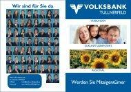 Werden Sie Miteigentümer - Volksbank Tullnerfeld eG