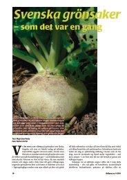 Svenska grönsaker förr i tiden - Fobo