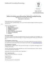 Referat af ordinær generalforsamling i Søllerød Grundejerforening