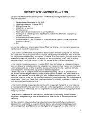 ORDINÆRT AFDELINGSMØDE 26. april 2012 - Rosensgade Kollegiet