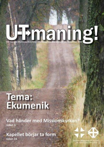 Tema: Ekumenik - Svenska Missionskyrkan