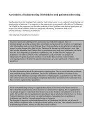 Anvendelse af lydalarmering i forbindelse med ... - DPSD