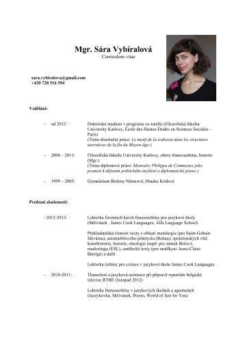 CV – Sára Vybíralová - eBabylon