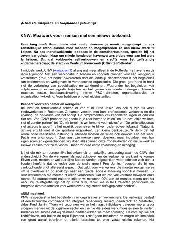 Bedrijven en Gezondheid - CNW
