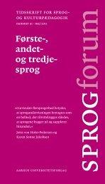 Sprogforum. Nummer 51 . Maj 2011 - Aarhus Universitetsforlag