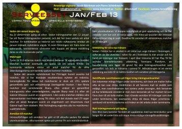 Lomma TFs nyhetsbrev Serveesset Jan & Feb 2013
