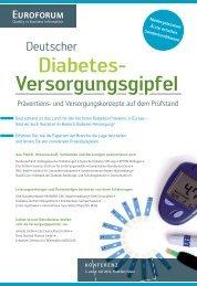 Diabetes- Versorgungsgipfel - Almeda