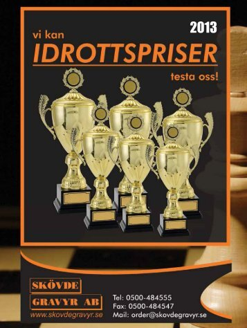 Vår katalog för idrottspriser - Skövde Gravyr AB